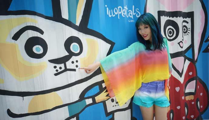 seoul colorful mural, illopetals