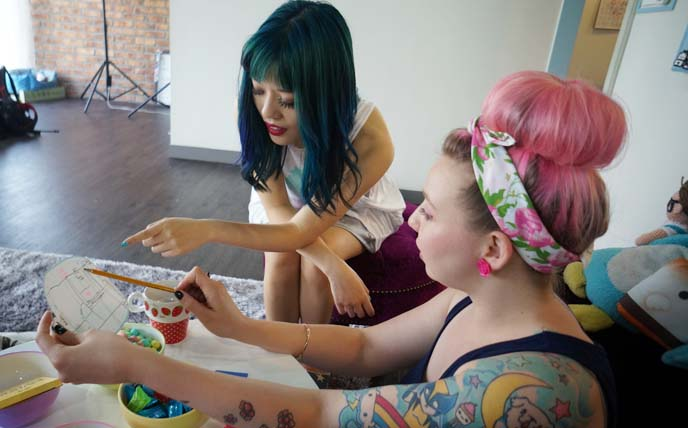 colored haired girls
