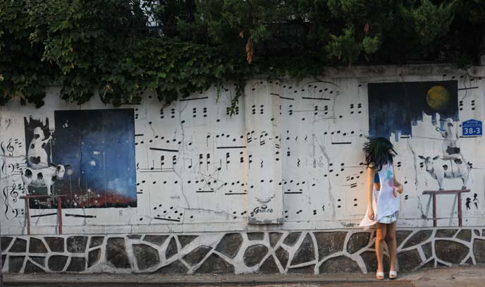 music notes kpop graffiti