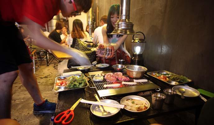 hongdae korean bbq grill