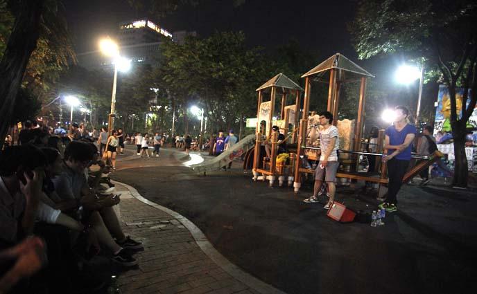 hongdae park performers