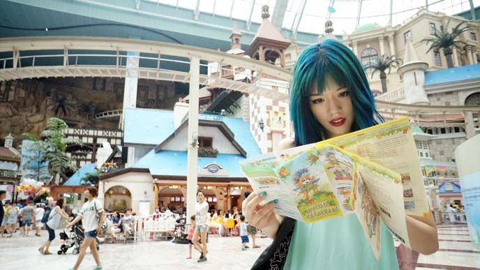 lotte world map, attractions