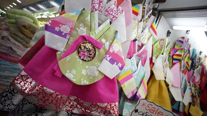 rainbow hanbok, korean traditional dresses