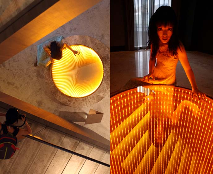 led light art, infinite hole