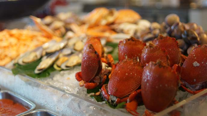 crab seafood hotel buffet