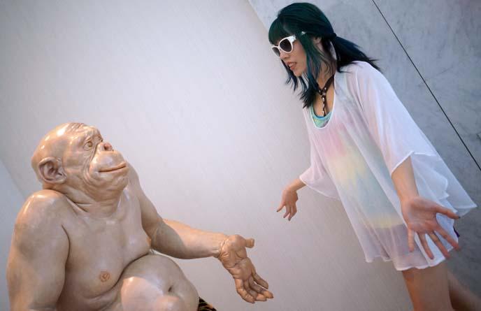funny statue caveman i'm sorry
