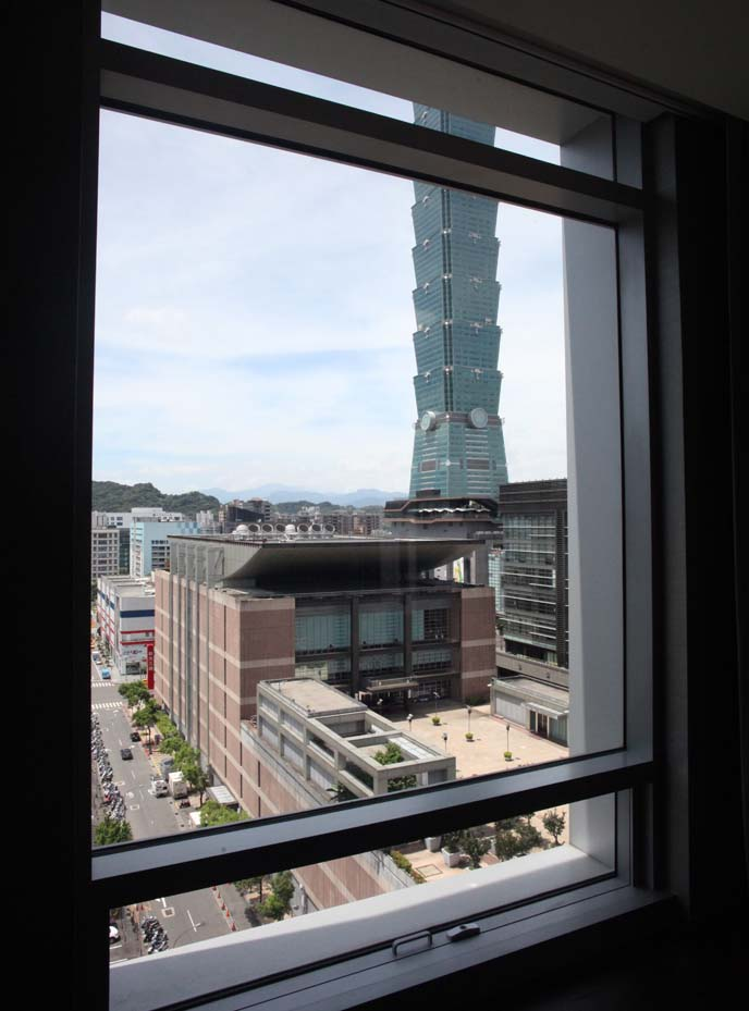 hotel view of taipei 101