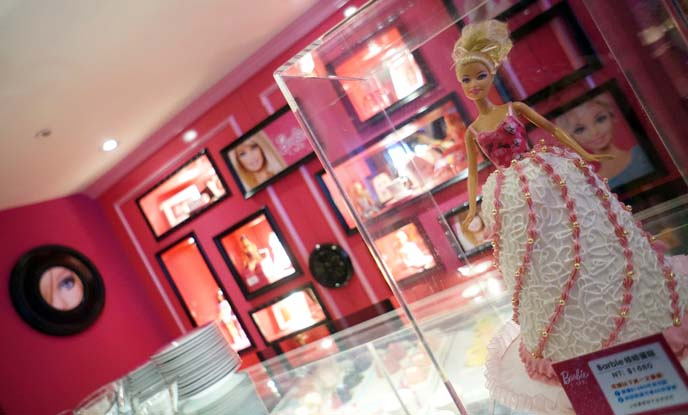 rare barbie doll display