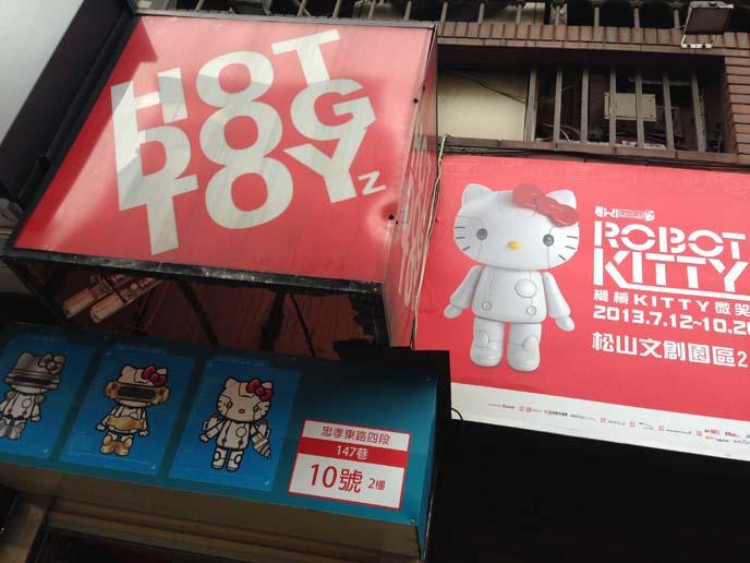 robot hello kitty, toy store taipei