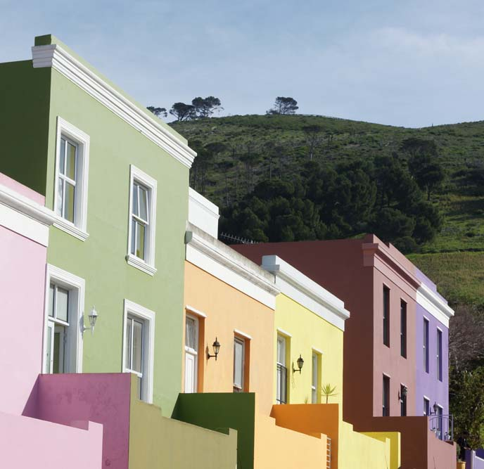 bo kaap colorful painted houses