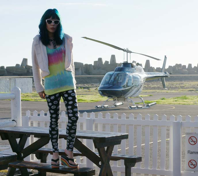 gladnews rainbow tank top, tie dye shirt