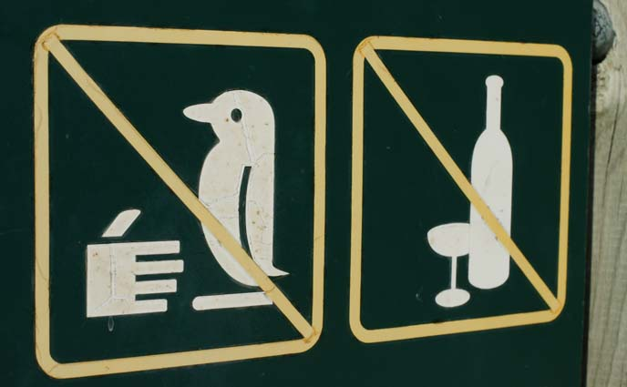 don't touch penguin sign