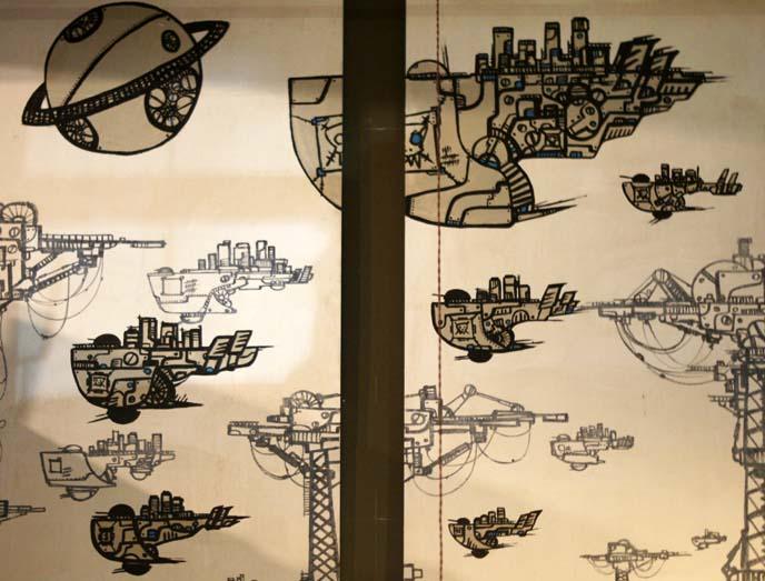 steampunk art, drawings