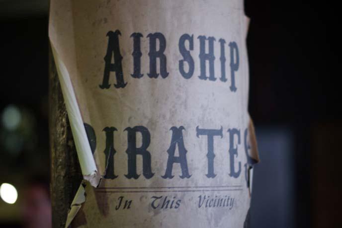 steampunk cafe, airship pirates