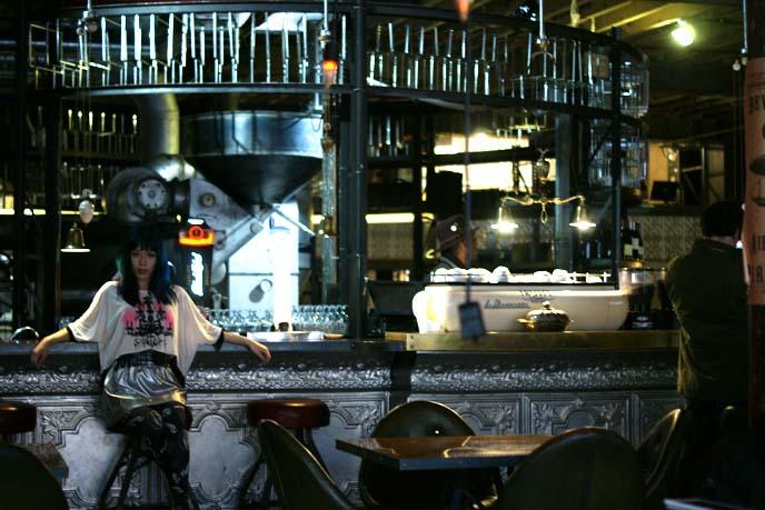 steampunk shop restaurant interior