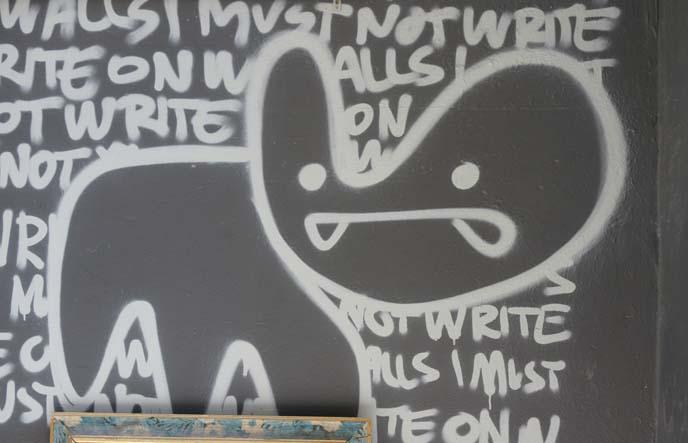 graffiti abstract cat drawing