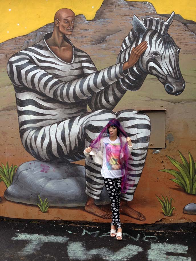 Interesni Kazki zebra suit painting