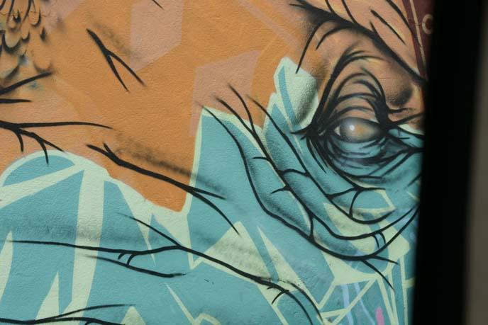 elephant eye painting, woodstock