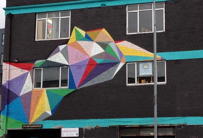 rainbow graffiti cape town, Okuda