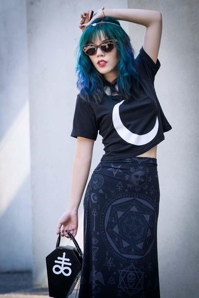 killstar clothing, coffin purse