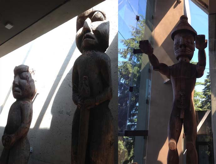 cedar man, museum anthropology statues