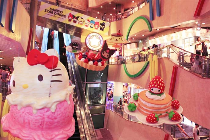 Hello Kitty cafe in Hong Kong Kuromi My Melody popup One Piece