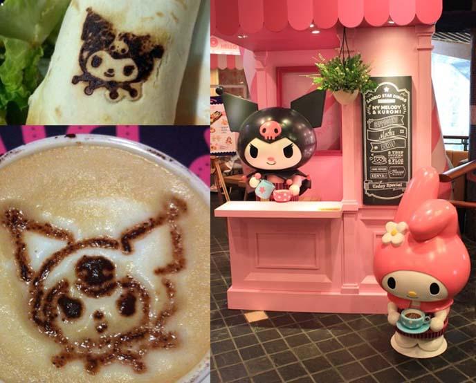kuromi crepe, sanrio latte