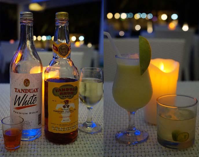 tanduay white rum, calamansi