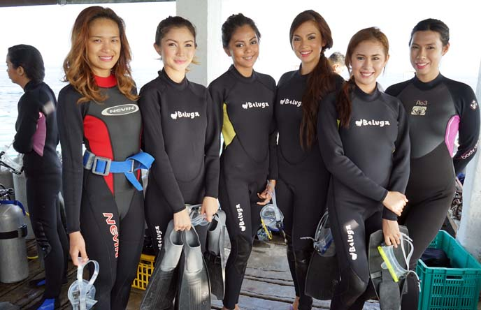 miss scuba contestants