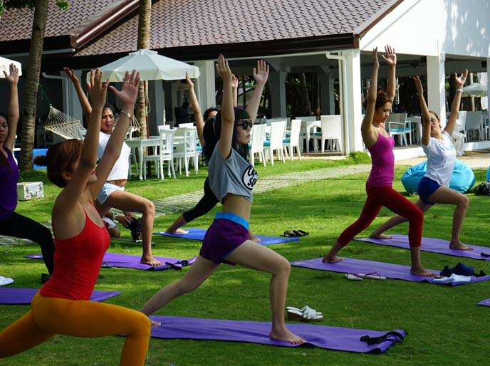 tropical yoga retreat