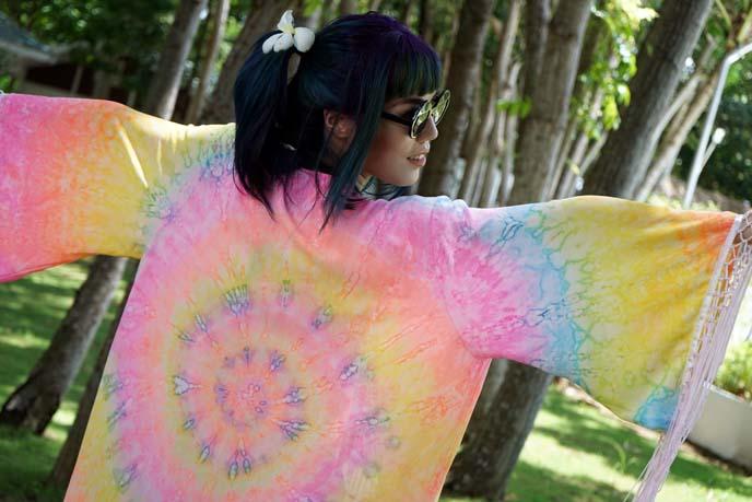 unif rainbow tie dye robe
