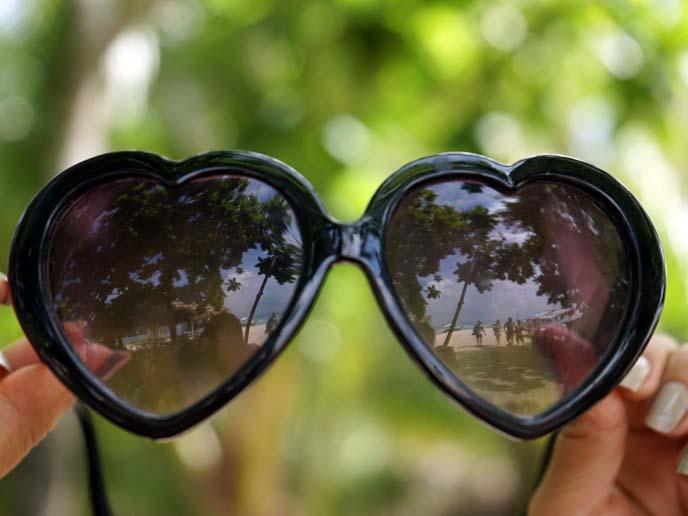 black heart shaped sunglasses