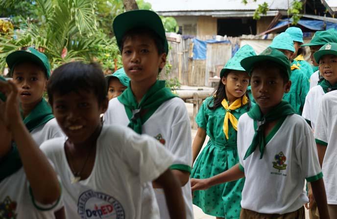 philippine school children uniforms