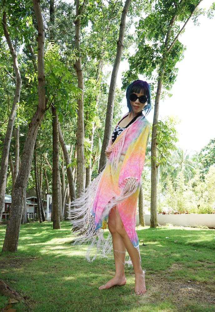 unif colorful kimono, coverup