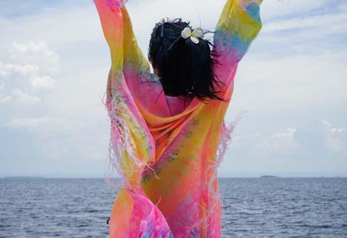 tie dye hippie coat