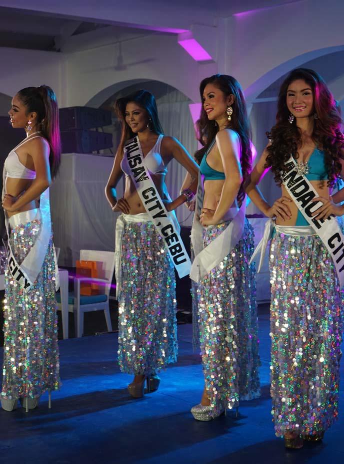 swimwear pageant contestants