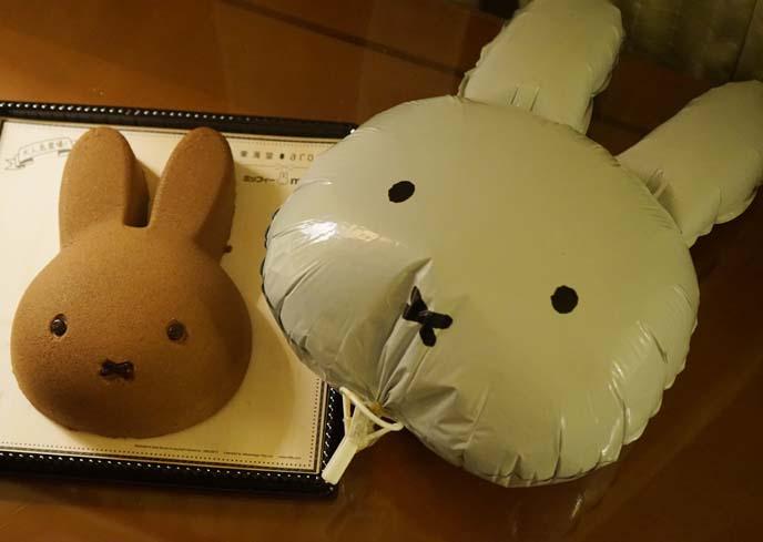 miffy bunny cute face cake