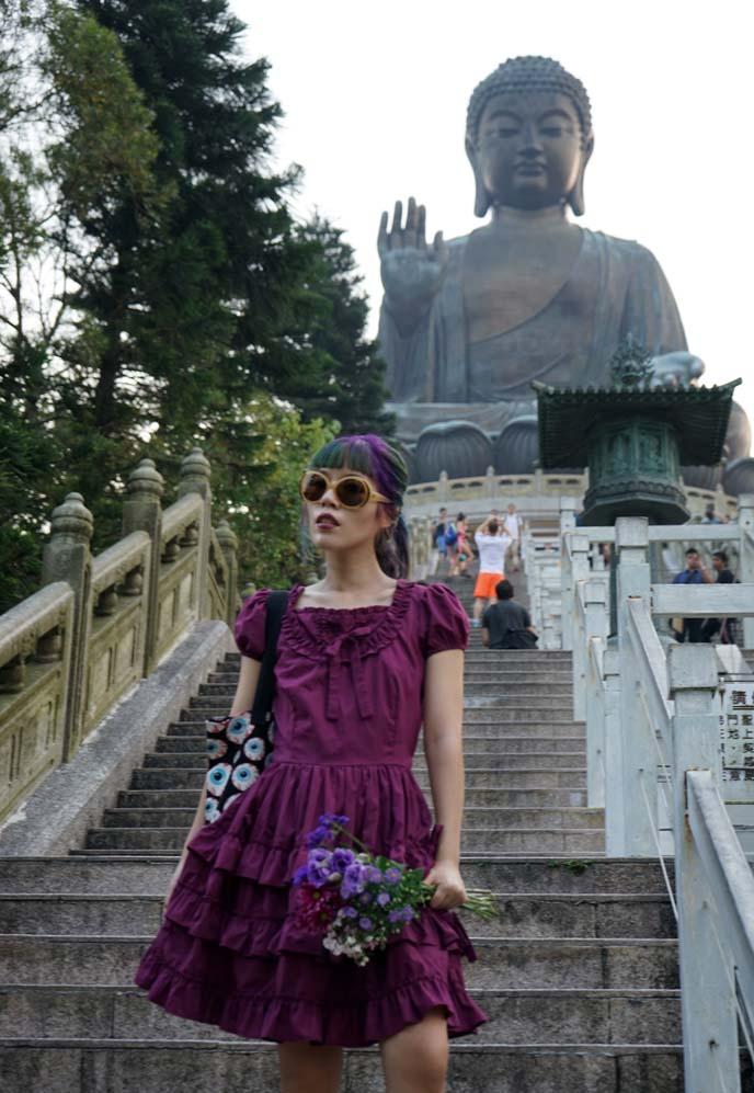 climbing stairs buddha statue lantau