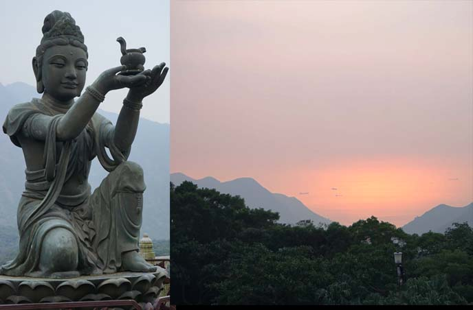 lantau island scenery, sunset