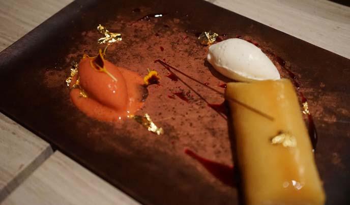 artistic dessert gold foil