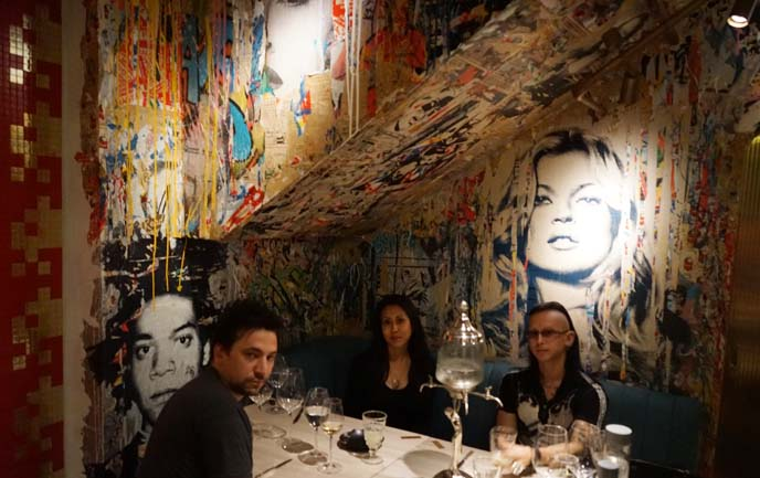 bibo restaurant kate moss art