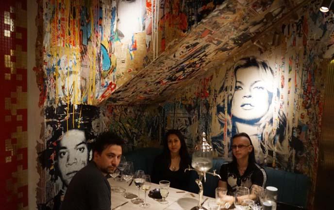 bibo restaurant kate moss art