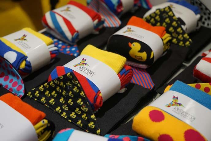 duck print socks