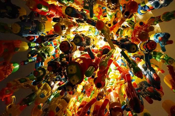 toy gun chandelier pmq