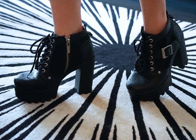 steelground shoes goth footwear