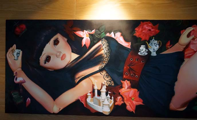 ball jointed doll painting
