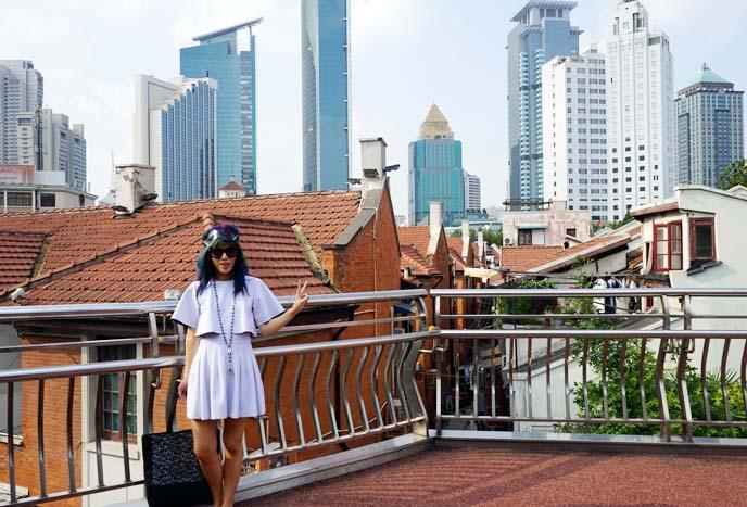 shanghai skyline buildings
