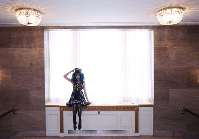goth doll modeling shoot