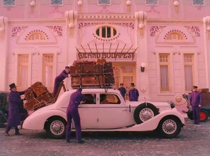 grand budapest hotel exterior car