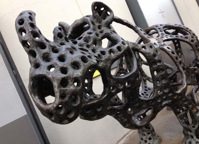 rhinoceros sculpture, rhino